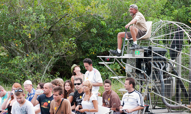 Fun and exciting Everglades Airboat Ride