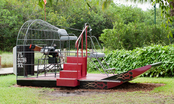 Red and Black Airboat
